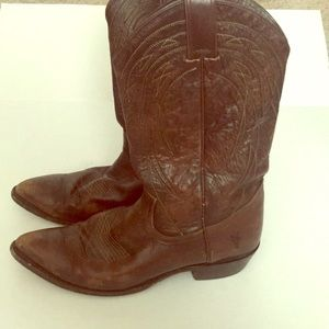 Frye western boots brown leather cowboy boots 10.5